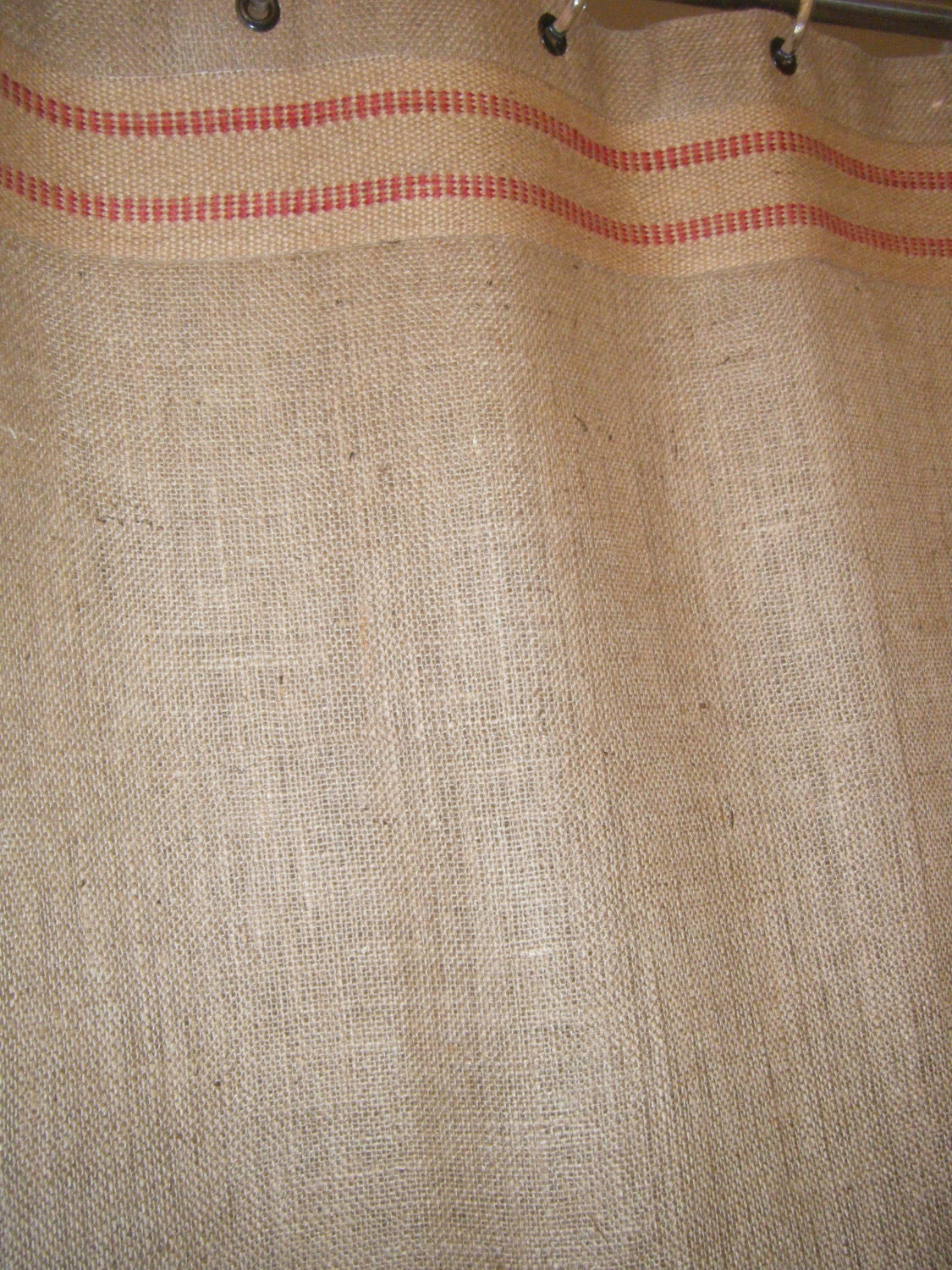 Burlap Shower Stall Curtain 37 Wide X 72 Long