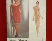 Vogue 2785 Elegant couture gown pattern size 14,16,18 UNCUT