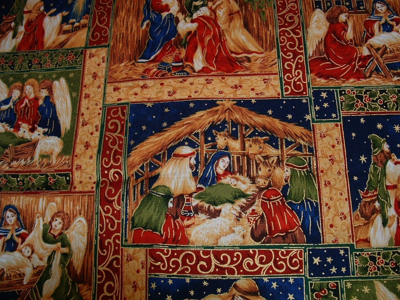Nativity Scene Fabric Christmas Decor 2 2 3 By
