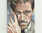 Hugh Laurie Aceo Print Fan Art