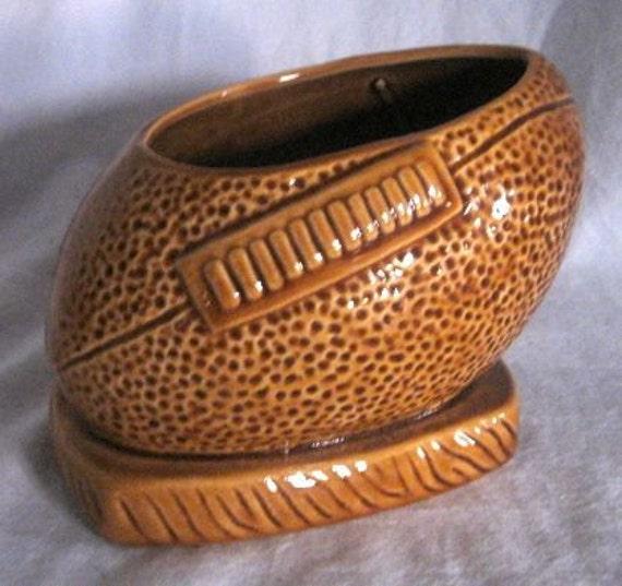 Vintage Planter Football Pottery Ceramic By Vivavera On Etsy