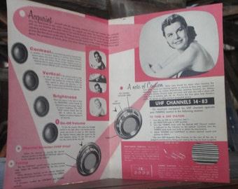 Hotpoint TV ad - 1950s paper ephemera -Original