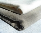 Linen Bath Sheets / Towels. SET OF 2.  Natural Grey .145cm x 90cm Made to order.