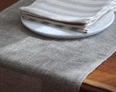 "Linen soft  Burlap  Runner. Natural Grey. size 180cm x 64cm( 71"" x 25"")"