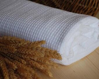 Pure Linen Bath Sheet. White.135cm x100cm