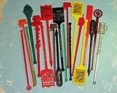 Vintage Swizzle Sticks - NE Ohio set no.2
