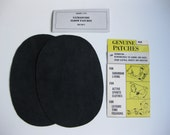 Elbow Patches - Black Ultrasuede - Set of 2