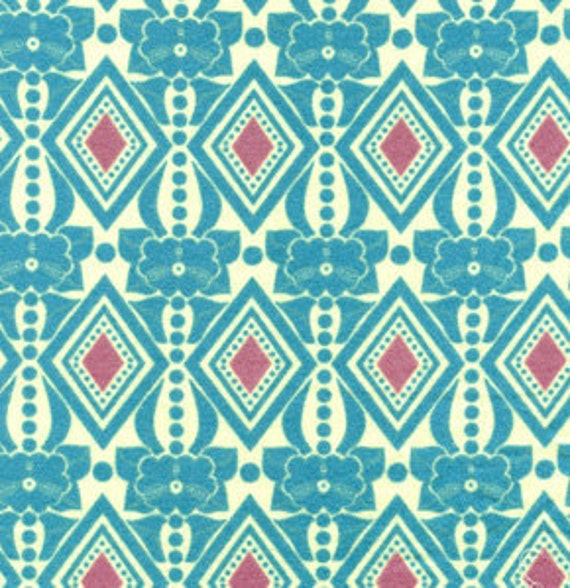 1/2 Yard Folksy Flannel Buttoned Up in Sea by Anna Maria Horner