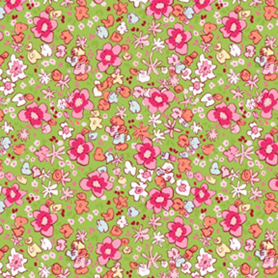 1/2 yard Meadow in Green Sarah Jane Studios Children at Play