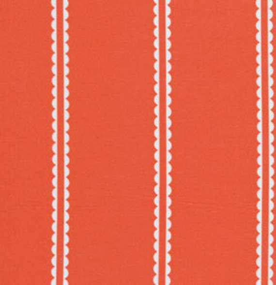 1/2 Yard Pastry Line in Coral Little Folks Voile by Anna Maria Horner