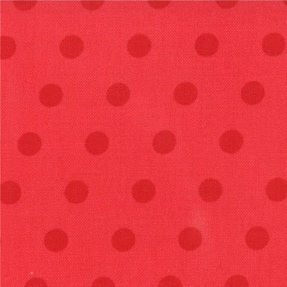 1/2 Yard Simple Dots in Poppy Red Walk in the Woods by Aneela Hoey for Moda