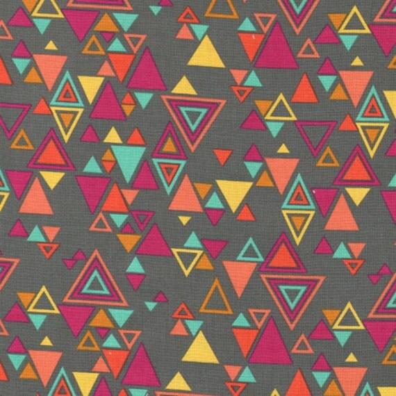 1/2 Yard Washi Triangle in Charcoal by Rashida Coleman-Hale for Timeless Treasures