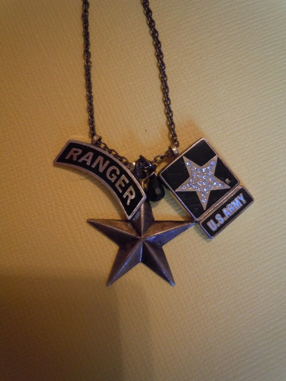 items similar to army ranger necklace free shipping on etsy
