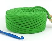 TShirt Yarn Recycled Green 36 Yards Super Bulky Tarn