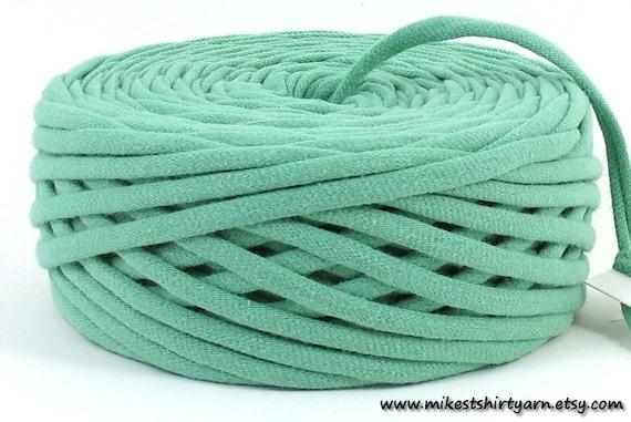 Recycled Tshirt Yarn Mint Green 47 Yards Super Bulky Tarn