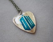 Doctor Who Logo Guitar Pick necklace