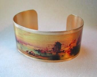 Venice Cuff Bracelet, Thomas Moran Painting