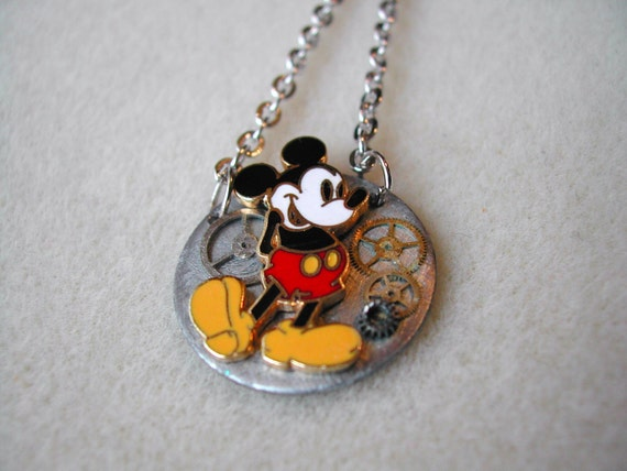 Mickey Mouse Steampunk necklace