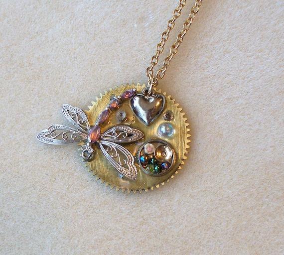Springtime Dragonfly Necklace