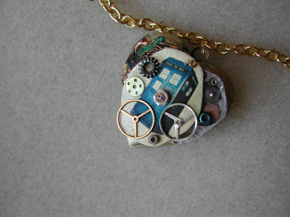 """Doctor Who Heart Locket """"The Oldest Question in the Universe"""""""