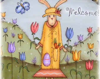 E PATTERN - New for Spring - Little Miss Tulip Hare - Designed by Terrye French, Painted by Me Sharon B - FAAP