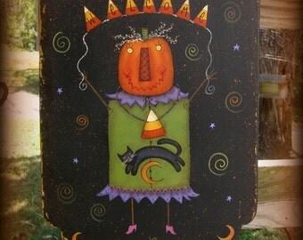 E PATTERN - Ms. Pumpkin Greeter - Fun & Funky for Halloween - Terrye French, Sharon Bond - FAAP