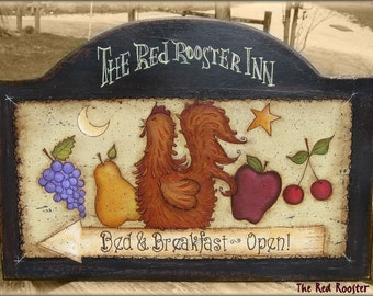 E PATTERN - Red Rooster Inn - Country, Fruit - Design by Terrye French, painted by Me, Sharon Bond - FAAP