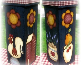 E PATTERN - Needful Box -  ALL 4 scenes - Rooster, Sheep, Flowers - Designed by Terrye French, Painted by Sharon Bond - FAAP