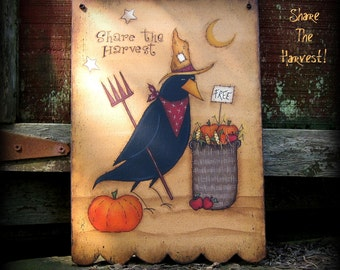 E PATTERN - Share The Harvest - Designed & Painted by Me, Sharon B - My FIRST design! - FAAP