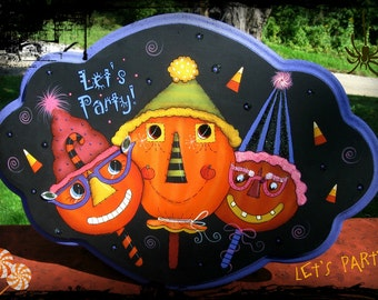 E PATTERN - Let's Party - FuN & FuNkY Pumpkins - Designed by Terrye French and Painted by Sharon Bond - FAAP