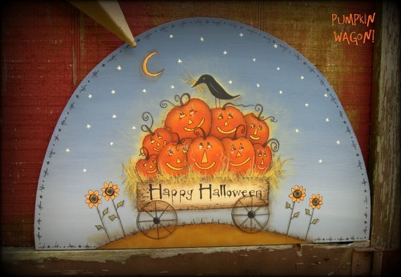 E PATTERN - Pumpkin Wagon - - Designed by Terrye French and Painted by Me, Sharon B. - FAAP
