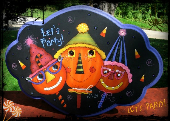 E PATTERN - Let's Party - FuN & FuNkY Pumpkins - Designed by Terrye French and Painted by Sharon Bond