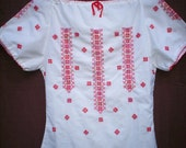 vintage peasant shirt hungarian embroidered