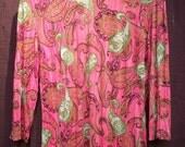 pink paisley psychedelic shirt