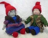 Faedale's  Waldorf Dolls Gnome Outfit knitting pattern PDF