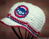 Chicago Cubs Inspired Crocheted Baseball Cap (Teen - Adult Size) (Made to Order)