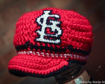 St. Louis Cardinals Inspired Crocheted Baseball Cap (Newborn - Children Size) (Made to Order)