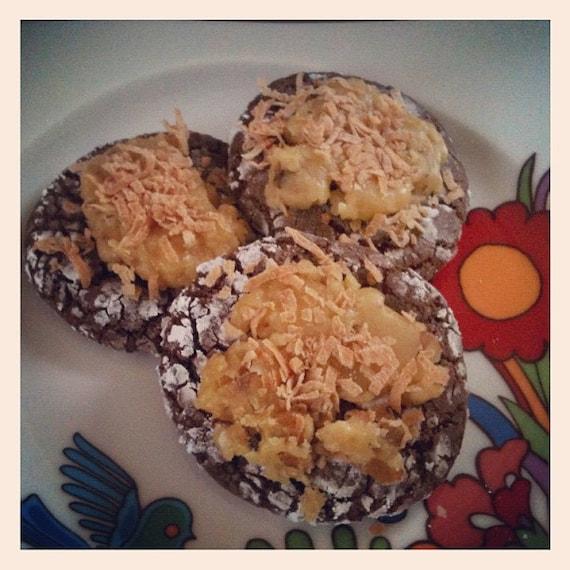Vegan German Chocolate Cookies