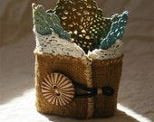 Smooth sands and fresh starts, a textile art cuff