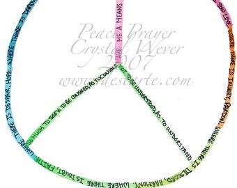 Prayer of St. Francis Peace Sign Spirit Cards