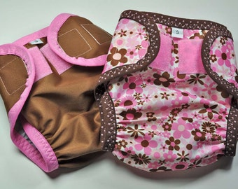 READY TO SHIP -- Diaper Cover Set, Babyville Boutique Mod Girl - size S