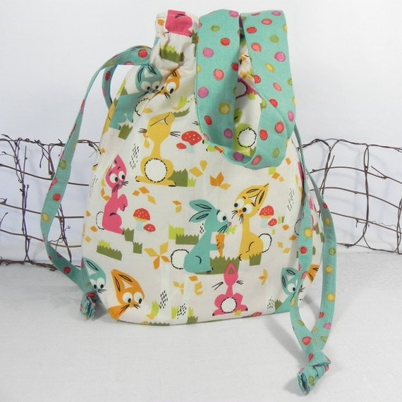 Knitting Bag, Tote Bag, Project Bag: Cutest Bunnies Ever