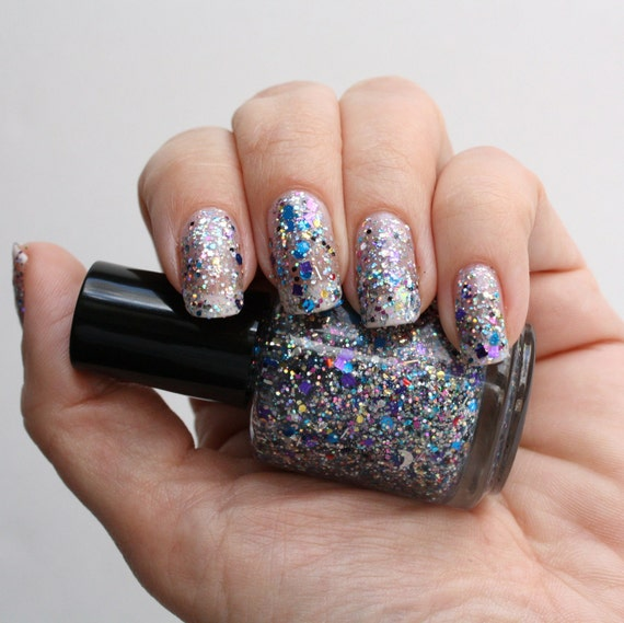 Multicolor and multishape glitter nail polish Kesha's Floor Sweepings
