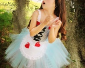 Alice in Wonderland inspired dress