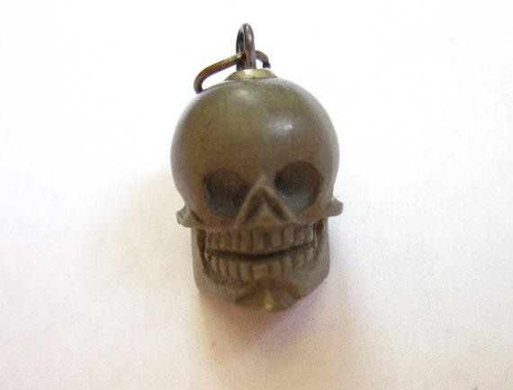 Reserved Listing- Antique Authentic MEMENTO MORI Skull Charm