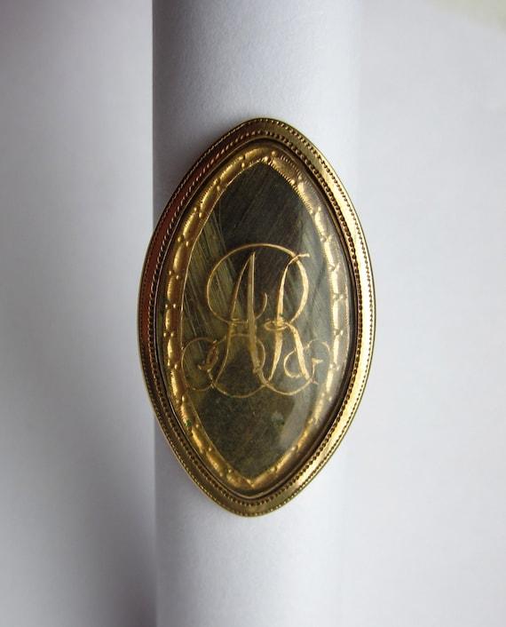 Antique Georgian (1788) Mourning 14K Ring