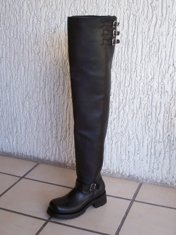 thigh high custom engineer boots 30 inches high shafts
