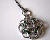 Slytherin Chainmaille Phone or Zipper Charm