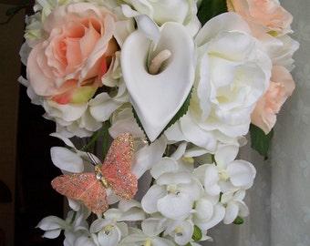 Peaches and Cream Brides Bouquet