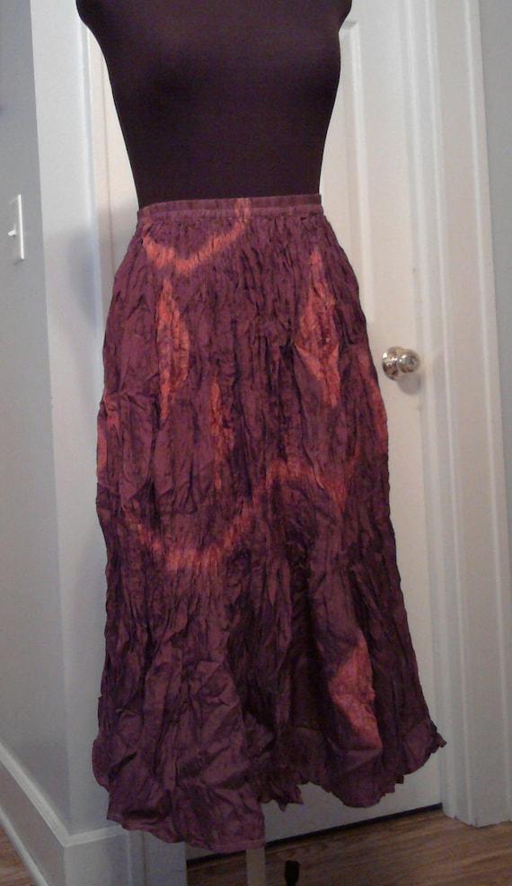 Silk Broomstick Skirt 107